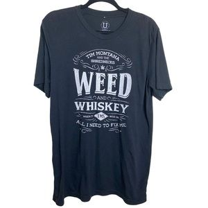 Tim Montana Rednecks Weed Whisky Black T Shirt